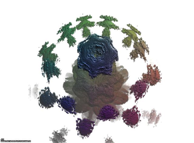 Un ensemble de Mandelbrot dans l'ensemble des pseudo-quaternions (un 'MandelBulb') -ou la ronde des enfants-, Colonna Jean-François