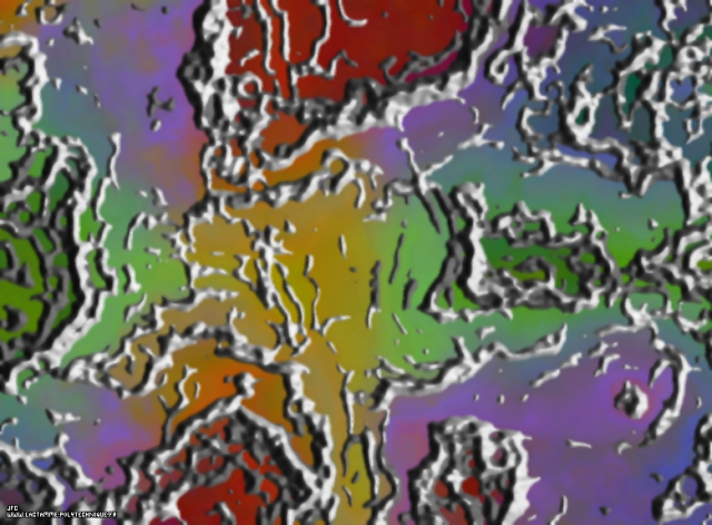 Texture fractale tridimensionnelle, Colonna Jean-François