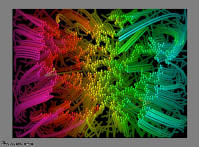 Les trajectoires des particules d'agrégats fractals bidimensionnels obtenus par collage de 100% de celles-ci lors de leurs collisions, dans un champ de gravitation central attractif, Colonna Jean-François