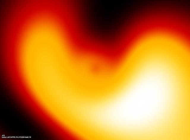 Visualisation tridimensionnelle de la superposition linéaire de 6 états propres de l'atome d'Hydrogène (calcul tridimensionnel), Colonna Jean-François