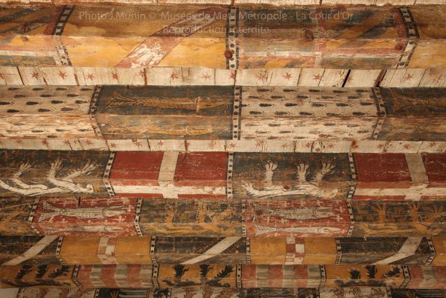 Plafond peint aux armoiries, Munin Jean