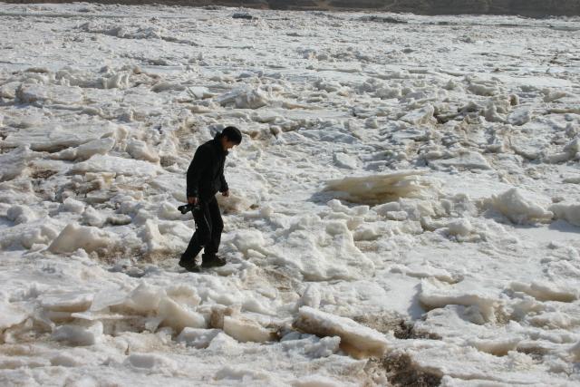 Mission février 2011, le Fleuve Jaune pris dans les glaces, Bodolec Caroline