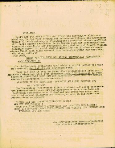 'Arbeiter und Soldaten !' Publication clandestine du Parti Ouvrier Internationaliste (POI) trotskyste, Chauvin Fonds