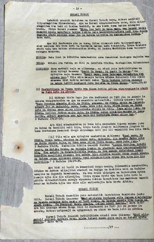 Manuscrit inédit (2014) d'Azimio la Arusha na Maandiko Matakatifu