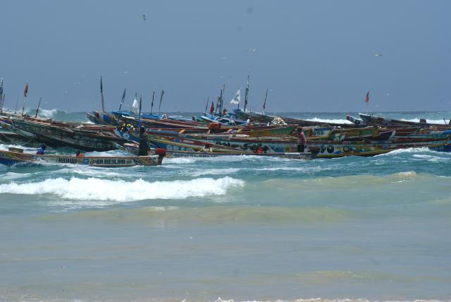 Pirogues à Yoff, village de pêcheurs au Sénégal