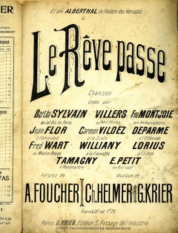 Le Rêve passe (Ex 2), Georges Krier Éditeur .
